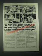 1987 DR Dick Raymond Workrest Wagon Ad - Bless You
