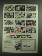 1987 Burpee Seeds Ad - 12 Juicy Reasons