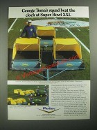 1987 Parker Estate Master Sweepers Ad - George Toma Groundskeeper NFL Super Bowl