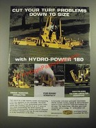 1987 Howard Price Hydro-Power 180 Mower Ad - Cut Your Turf Problems Down to Size