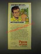 1987 Greenview Preen 'n Green Ad - Show Weeds Who's Boss