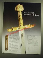 1987 The Franklin Mint Ad - The Sword of Charlemagne