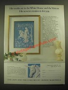 1987 The Franklin Mint Ad - The Lady and the Unicorn by George McMonigle