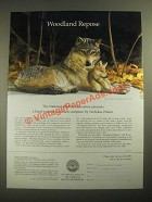 1987 Franklin Porcelain Ad - National Wildlife Sculpture by Nicholas Wilson
