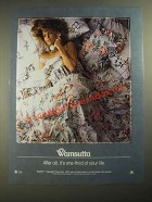 1987 Wamsutta Rosehill Cotton Sheets Ad - One-Third of Your Life