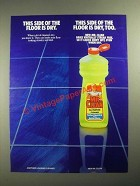 1987 Mr. Clean Cleaner Ad - This Side of the Floor is Dry