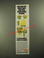 1987 O-Cedar Household Handle Goods Ad - Wheter You Sweep, Wipe, Mop