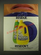 1987 Palmolive Automatic Dishwasher Detergent Ad - Residue