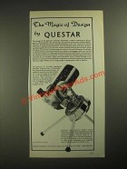 1987 Questar 3 1/2 Telescope Ad - The Magic of Design
