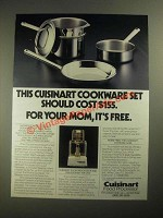 1987 Cuisinart Food Processor Ad - This Cookware Set Should Cost $155