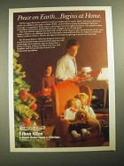 1987 Ethan Allen Galleries Ad - Peace on Earth Begins at Home