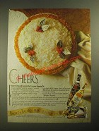 1987 Bacardi Rum and Baker's Coconut Ad - Recipe for Coconut Eggnog Pie