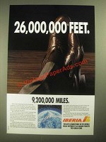 1987 Iberia Airlines Ad - 26,000,000 Feet