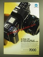 1987 Minolta Maxxum 7000 Camera Ad - World's Best-Selling