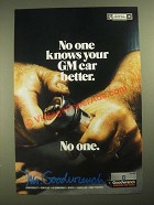 1987 GM Mr. Goodwrench Service Ad - No One Knows Your GM Car Better