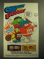 1987 M&M's Candies Ad - Chocolate Fun for Everyone - Baseball