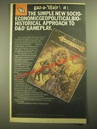 1987 TSR Dungeons & Dragons Gazetteer Ad - Approach to D&D Gameplay