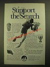 1987 Institute of Nautical Archaeology Ad - Support the Search