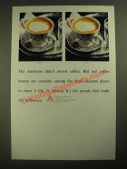 1987 Austrian National Tourist Offices Ad - Didn't Invent Coffee