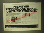 1987 Krone Niemeyer Tedders and Rakes Ad - Use Them Forever