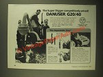 1987 Danuser G20/40 Digger Ad - Super Digger Competitively Priced