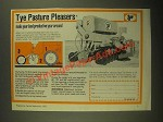 1987 Tye No Till Drill Ad - Pasture Pleasers
