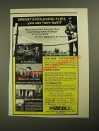 1987 P.H. White Cow Life Cattle Rub, Face Flyps and Fly Bullets Ad