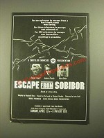 1987 Escape from Sobibor CBS Movie Ad - Rutger Hauer, Joanna Pacula, Alan Arkin