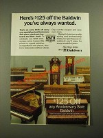 1987 Baldwin Pianos, Electronic Keyboards and Floor Clocks Ad
