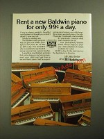 1987 Baldwin Pianos Ad - Rent for Only 99¢ a Day