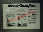 1987 Tennant 255 and 140 Sweepers Ad - Sweep Clean, Fast