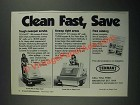 1987 Tennant 186 and 215 Sweepers Ad - Clean Fast, Save