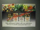 1987 Osmocote Plant Food Ad - Safe, Continuous Nutrition
