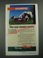1987 Grasshopper Lawn Mowers Ad - The Easy-Money Savers