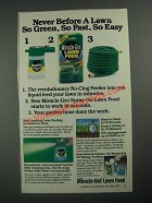 1987 Miracle-Gro Spray-On Lawn Food Ad - So Green, So Fast