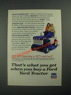 1987 Ford YT-12.5 Lawn Mower Ad - That's What You Get