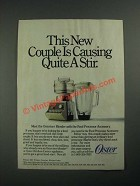 1987 Oster Ad - Osterizer Blender with Food Processor Accessory