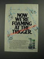 1987 Dow Bathroom Cleaner Ad - Now We're Foaming at the Trigger