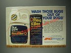 1987 Blue Lustre Flea Killer Ad - Wash Those Bugs Out of Your Rugs