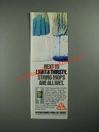 1987 O-Cedar Light & Thirsty Mop Ad - String Mops Are All Wet