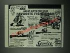 1987 Service Merchandise Zebco Fishing Gear Ad - 33 Classic Reel