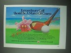 1987 Longboat Key Club Ad - Extraordinary Golf A Matter of Course