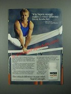 1987 Nuprin Pain Reliever Ad - Bart Conner