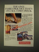 1987 Clairol Research Family Practice Ad - Foot Chargers, Muscle Minder