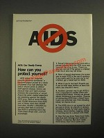 1987 Aids Public Service Announcement Ad - How Can You Protect Yourself?