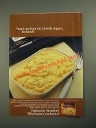 1987 Stouffer's Entrees Ad - Now I Can Have My Favorite Supper For Lunch