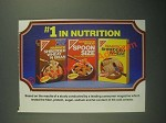 1987 Nabisco Shredded Wheat Cereal Ad - #1 In Nutrition