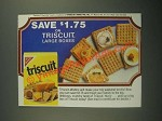 1987 Nabisco Triscuit Crackers Ad - Save on Large Boxes