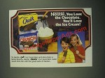 1987 Nestle Quik and Nestle Crunch Ice Cream Bars Ad - Love the Chocolate