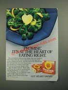 1987 Promise Spread Ad - It's At the Heart of Eating Right
